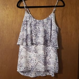 Blouse tank top and cardigan